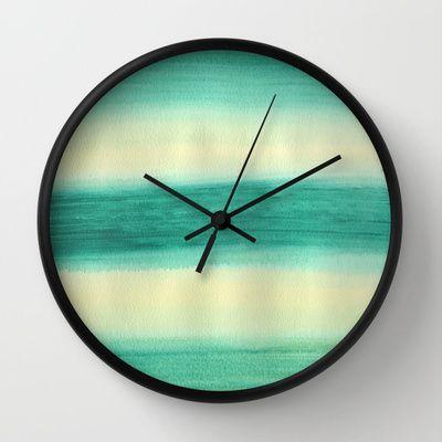 Azur Paradise Wall Clock by Alina Sevchenko - $30.00