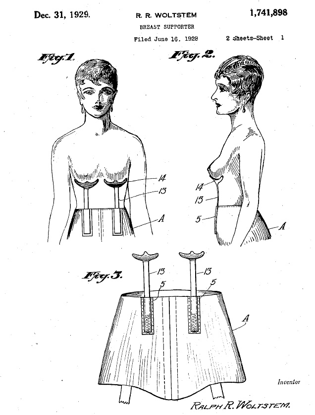 Ptak Science Books: A Terribly Short Note on the History of Bras, U.S. Patent Office, 1892-1930