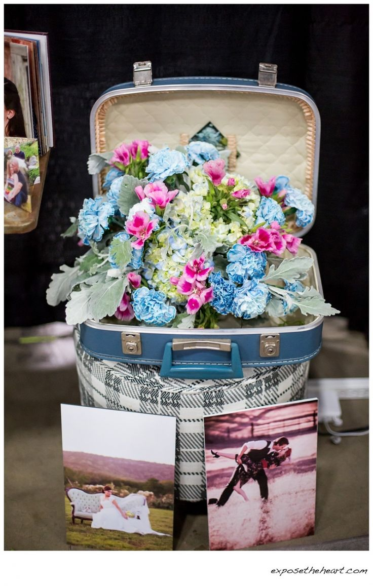 Love This Vintage Vanity Case Brimming With Summer Flowers Find Pin And More On San Antonio Wedding