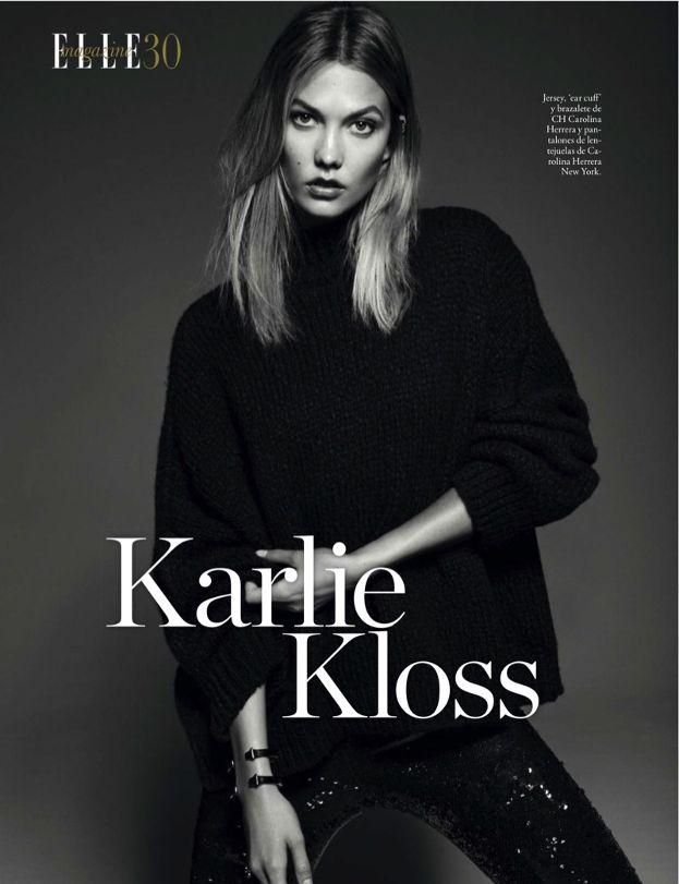 """Karlie Kloss pozuje dla """"Elle"""" - PUDELEK"""