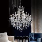 Crystal World Inc. Maria Theresa 19-Light Chrome Chandelier