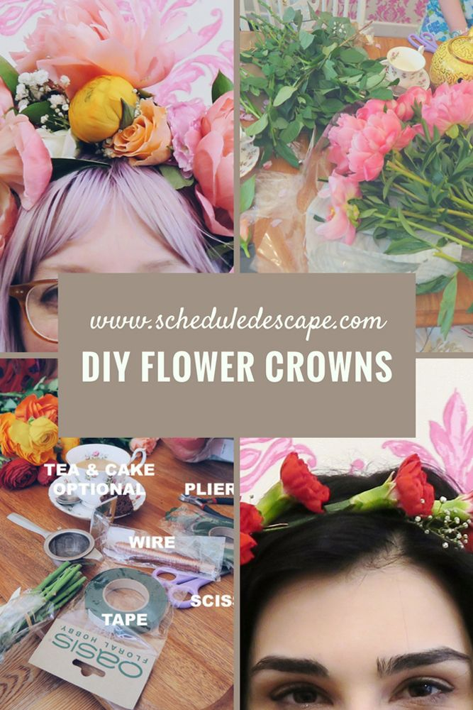 DIY Flower Crowns, how to and tips.