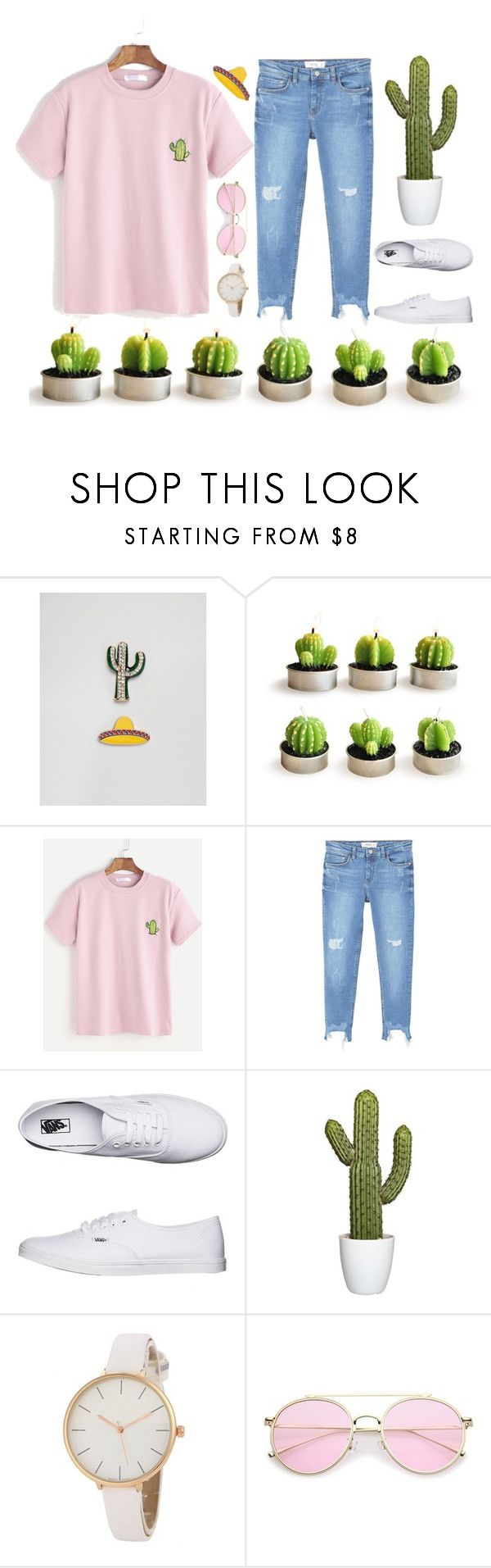 """Cactus 🌵"" by tegan-nottle ❤ liked on Polyvore featuring ASOS, MANGO, Vans, Cactus, trend, women and fashionset"