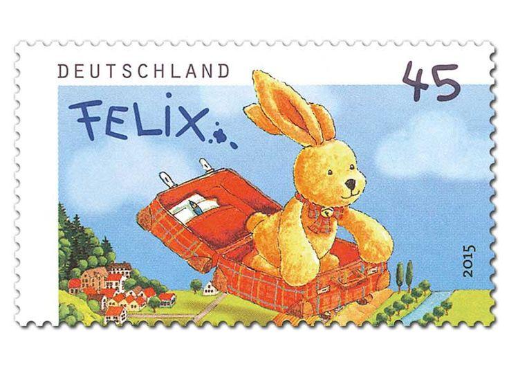 """Bild Briefmarke """"Felix der Hase: Felix auf Reisen"""" 45 ct"""