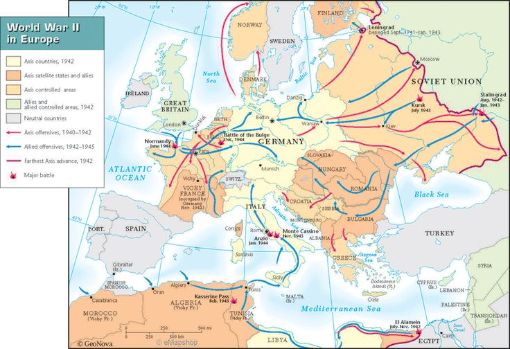 Map Of Europe In Ww2
