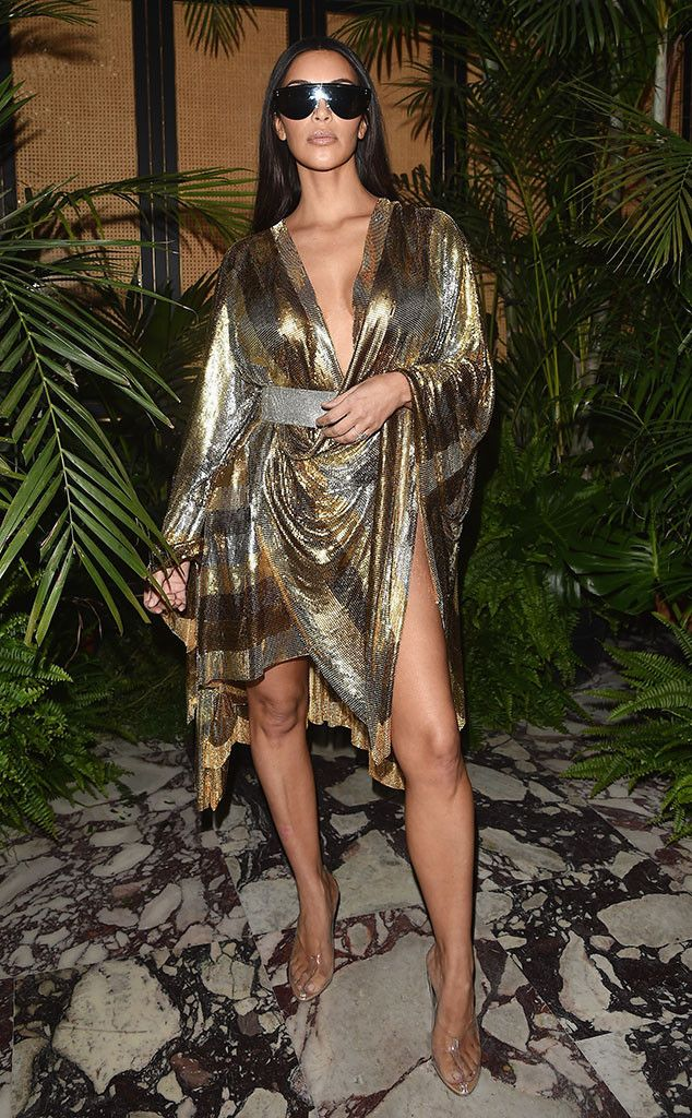Kim Kardashian from The Big Picture: Today's Hot Pics  Looking bright! The reality star is seen at the Balmain party during Paris Fashion Week.