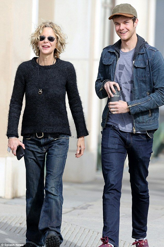Bonding time: Meg Ryan was spotted on an outing in the Brentwood neighbourhood of Los Ange...