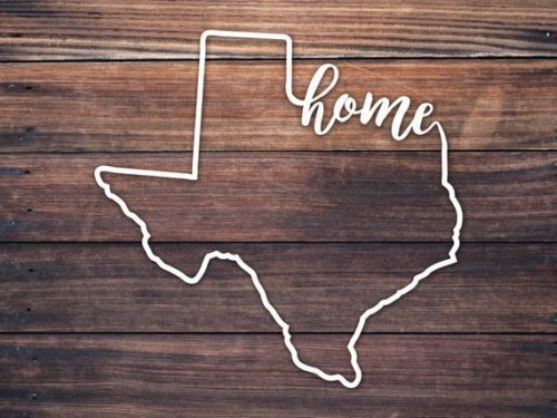 Texas State Car Window Decal Texas Home Roots Script Home Decal