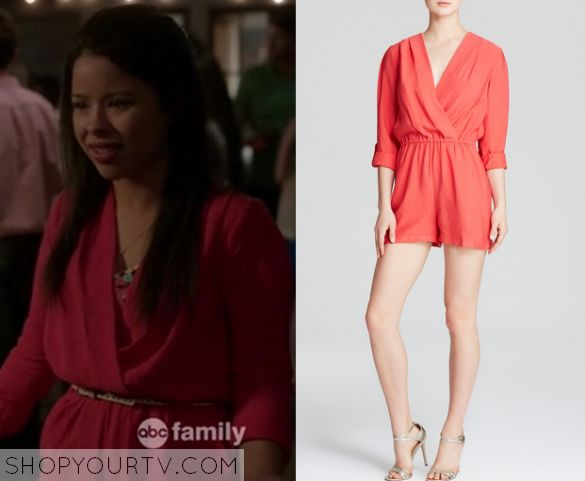 The Fosters: Season 3 Episode 6 Mariana's Pink Wrap Romper