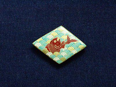 目出鯛の絵帯留めネックレス - 薩摩志史オンラインショップ