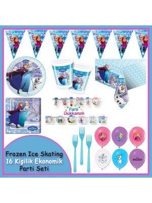 Frozen İce Skating Parti Seti (16 Kişilik Set)