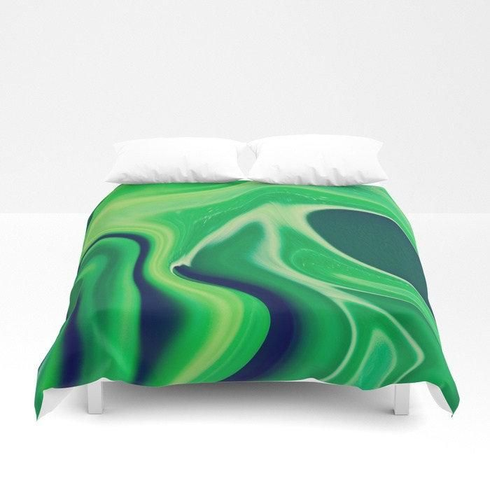 Harmonious Greens Bedding – Comforters – Duvet Covers – Pillow Sham Sets – Bedroom Decor Dark Green and Light Green