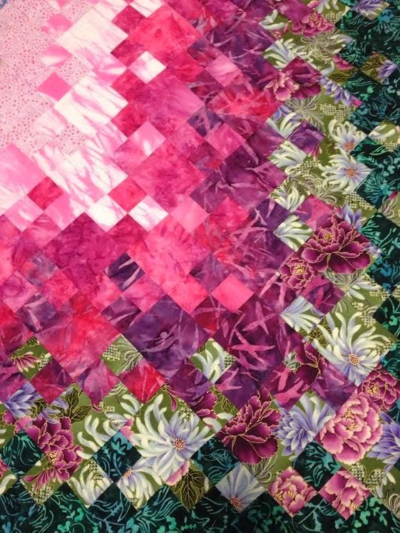 Blooming Nine Patch Quilt - Easy Four Patch Version