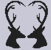 Deer Heart Cross Stitch Pattern  - via @Craftsy