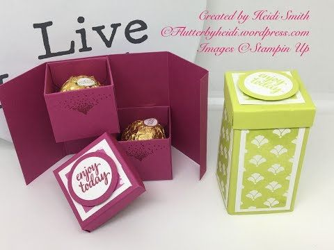 Ferrero Friday Double Ferrero Lidded Stacker box by Heidi Smith Flutterbyheidi - YouTube