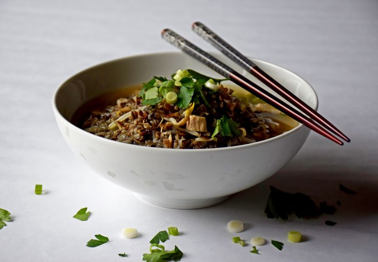 Early spring is still the perfect time for a nice warm bowl of soup.  The flavors of coconut, garlic, and fresh ginger make this soup so refreshing! http://healthnutdiva.com/thai-chicken-and-wild-rice-soup/