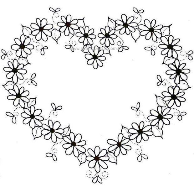 doodle borders wreath embroidery - Buscar con Google