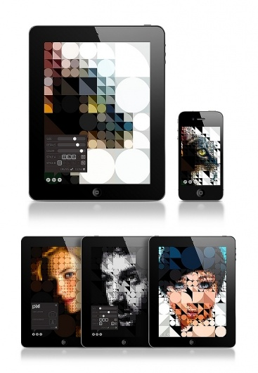 Designer: Jean-Christophe Naour - http://www.behance.net/jcnaour   App: Pixl   Video: http://vimeo.com/27900690?width=640=360   Purchase: http://itunes.apple.com/us/app/pixl/id453394235