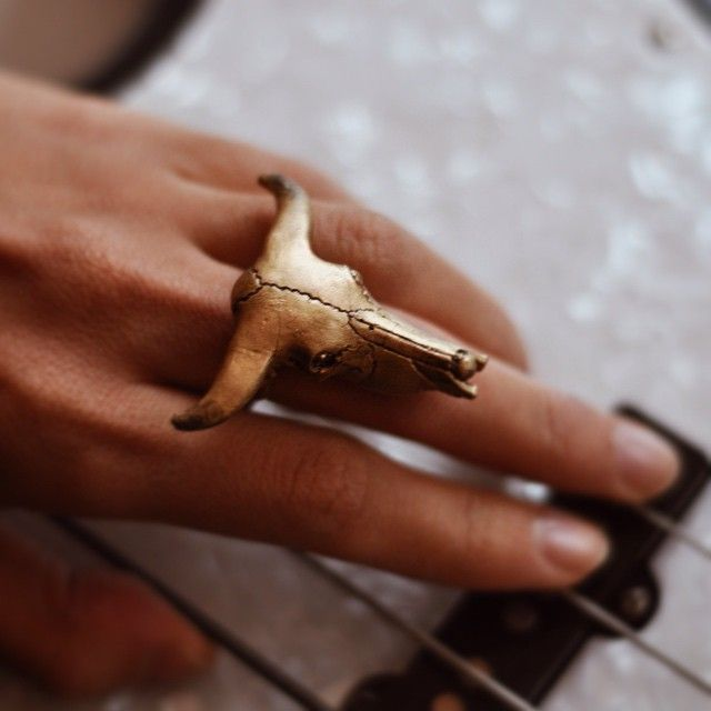 Buffalo rings by Monad Design #jewelry #rings #buffalo #gold #bohochic #boho