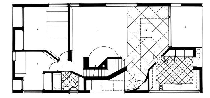 Vanna Venturi House Robert Venturi Grundrissfibel