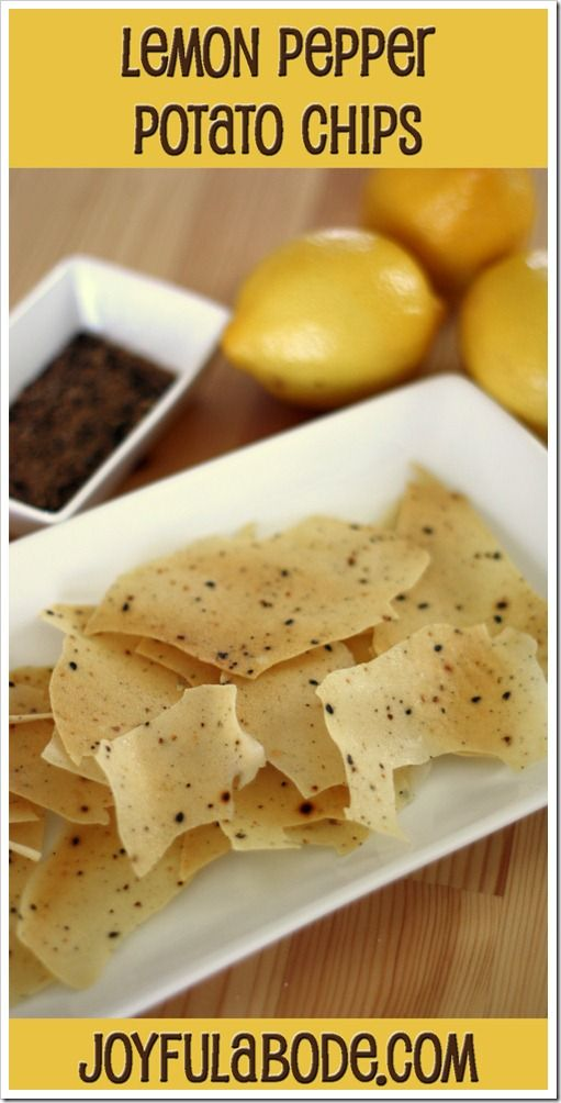 Lemon Pepper Potato Chips–Dehydrator Recipe | Joyful Abode