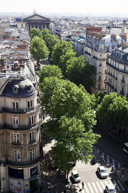 The Beautiful View From the Terrace at Printemps, Paris