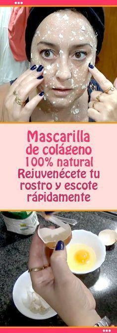 Mascarilla de colágeno. 100% natural. Rejuvenécete tu rostro y escote rápidamente #mascarilla #colágeno #arrugas #rosto #escote #rejuvenecimiento #piel