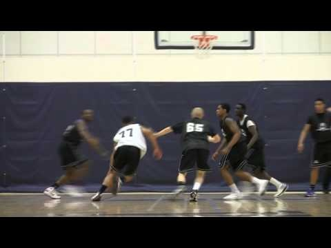 Maine SG Justin Edwards with Sweet Hesitation move during 2011 *A*Game Camp