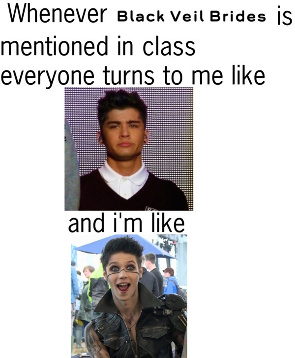 This would totally be you if people at our school liked BVB