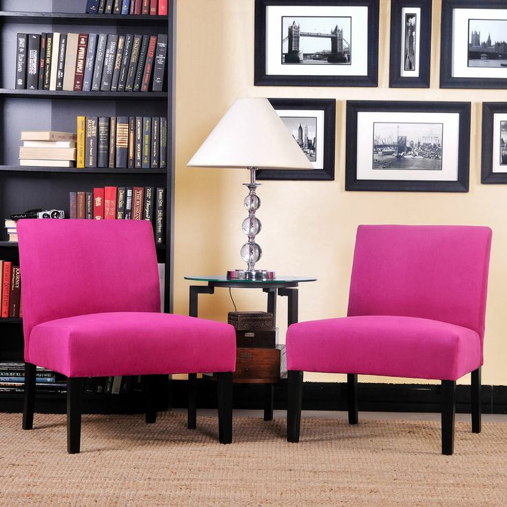 Hot Pink Modern Chair Chairs Manhattan Furniture Living