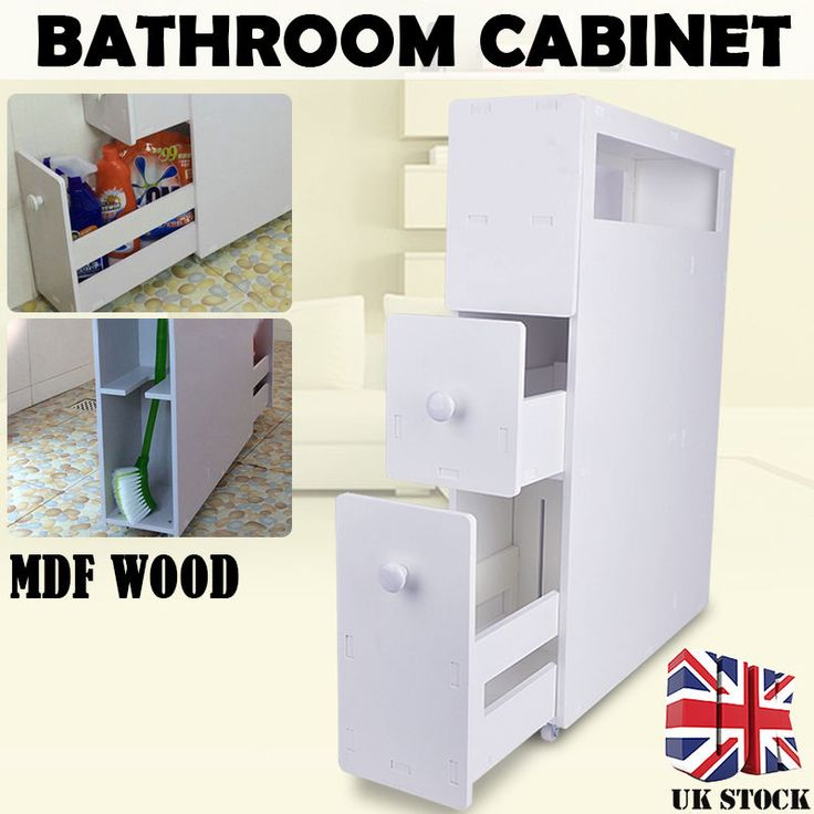 Clear up some space in your washroom while adding a touch of classic appeal with this wooden floor cabinet. Features a subtle white finish for a clean appearance. Small footprint to fit in any bathroom. | eBay!