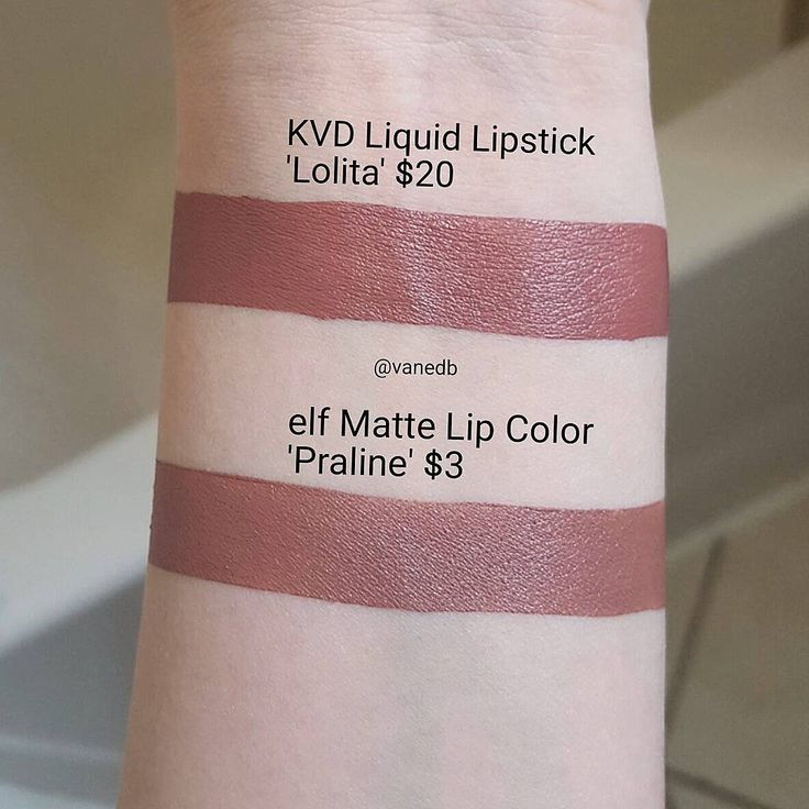 Kat Von D Lolita = elf Matte Praline http://amzn.to/2u19PkJ
