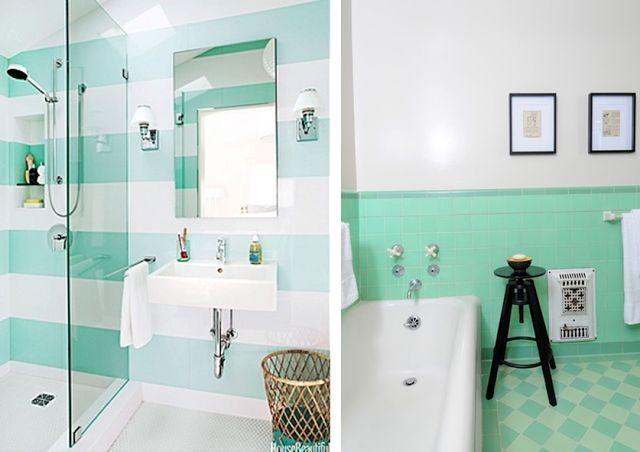 Blog déco design Joli Place #mint #bathroom