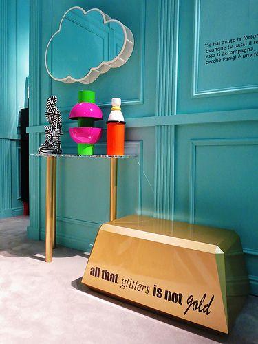 #lingotto coffee table, #design Garilab by Piter Perbellini for #altreforme A Moveable Feast #stand @iSaloni 2014 #paris #anni20 #roaringtwenties #designweek #interior #home #decor #homedecor #furniture with #woweffect #aluminium