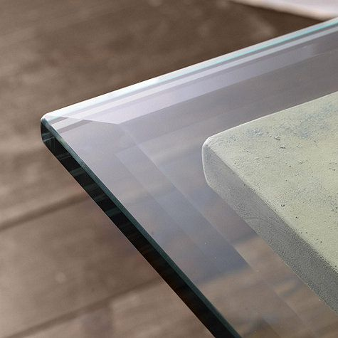 Rectangle Glass Table Tops with Beveled Edge