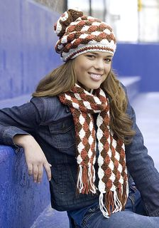 Ravelry: Shell Stitch Hat and Scarf pattern by Red Heart Design Team