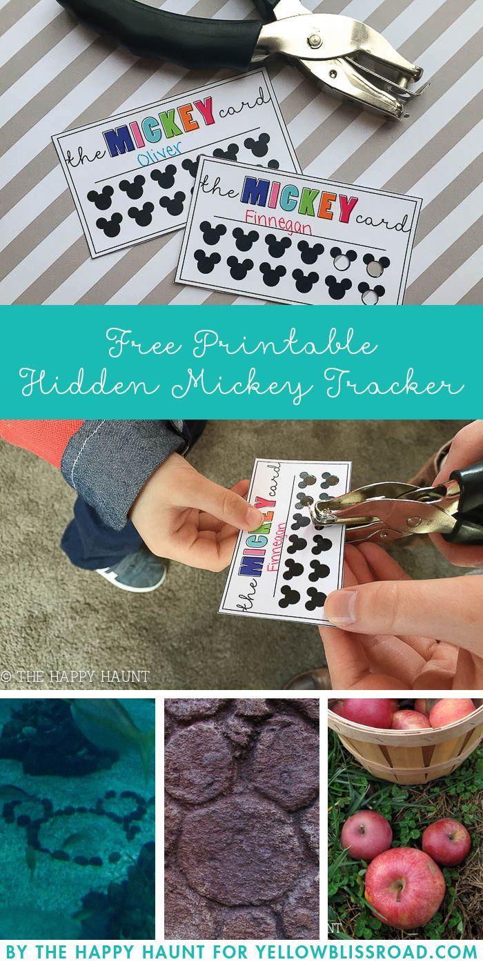 Hidden Mickey Tracker Free Printable - Fun way to make hunting for Hidden Mickey's into a game