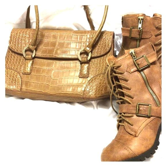 Free Tommy Hilfiger purse Brown Tommy Hilfiger purse for free when you purchase the booties, new no tags never worn Tommy Hilfiger Shoes