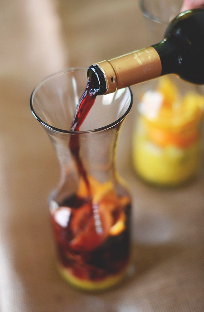 5 ingredient fruity sangria made with Spanish red wine. 15 minutes from start to finish.