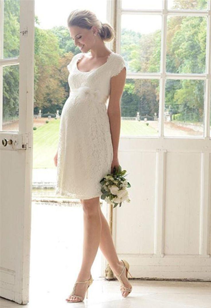 78 best Pregnant Women Wedding Dresses images on Pinterest | Short ...