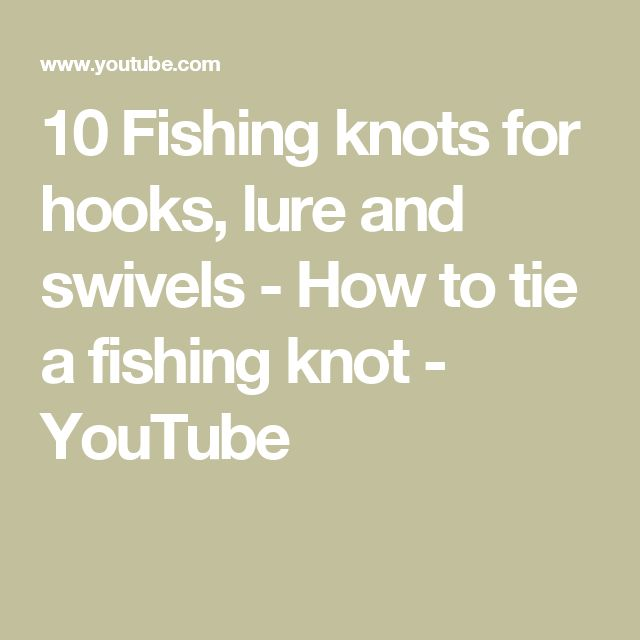 how to make a fishing hook knot