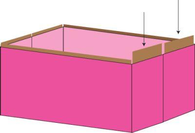 коробки из ткани для хранения вещей