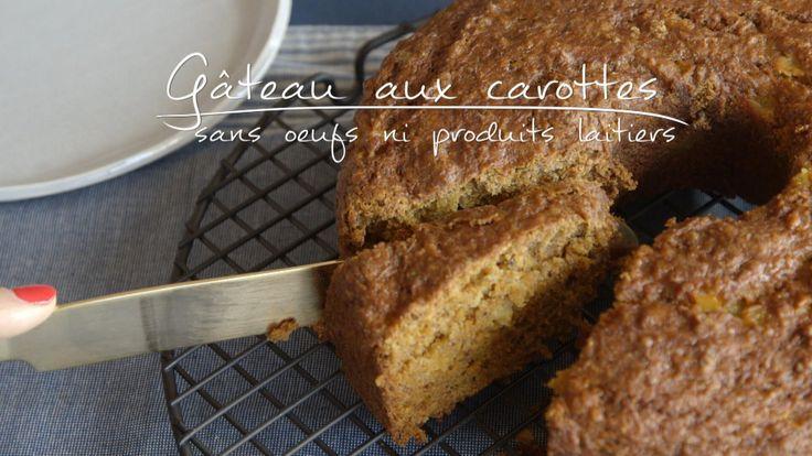 Gâteau aux carottes (sans œufs ni produits laitiers)