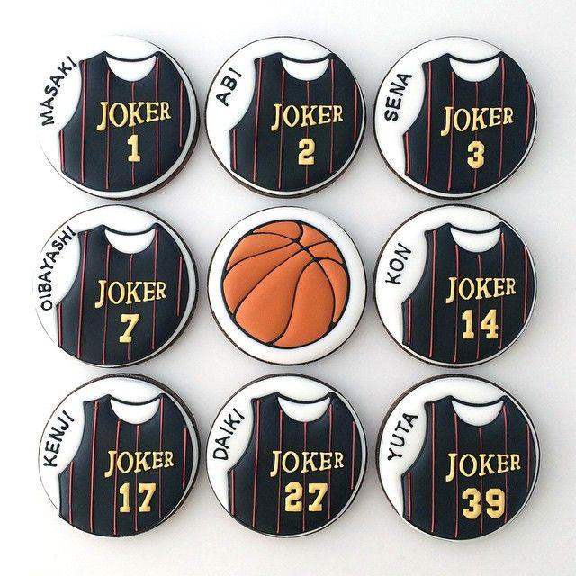 バスケユニフォームがモチーフのアイシングクッキー。  #basketball #バスケ #バスケットボール #クッキー #アイシングクッキー #cookie #cookies #decoratedcookie #decoratedcookies #sugarcookie #sugarcookies #icingcookie #icingcookies