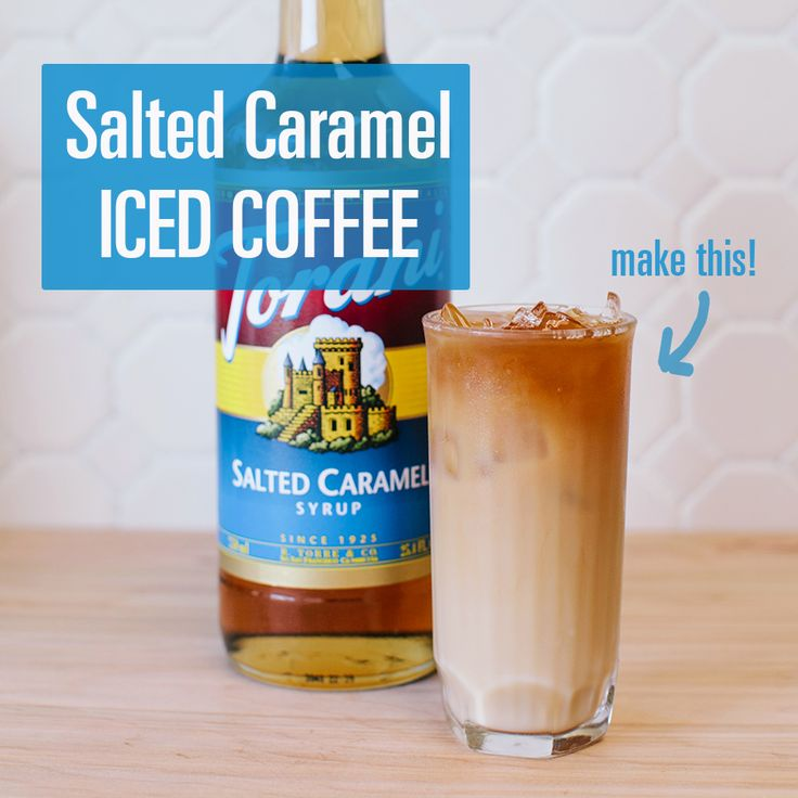 Salted Caramel Iced Coffee // Made with Torani