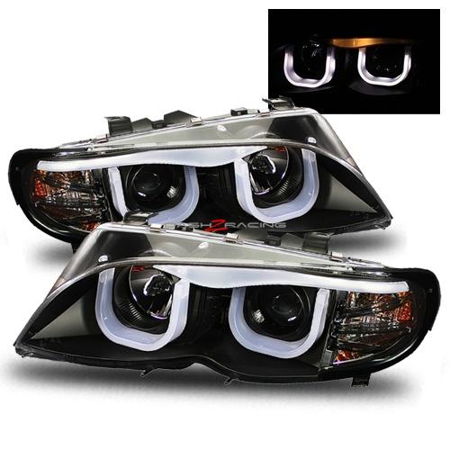 02 05 Bmw E46 4dr Optical Halo Projector Headlights Black Gift Ideas Pinterest Bmw E46
