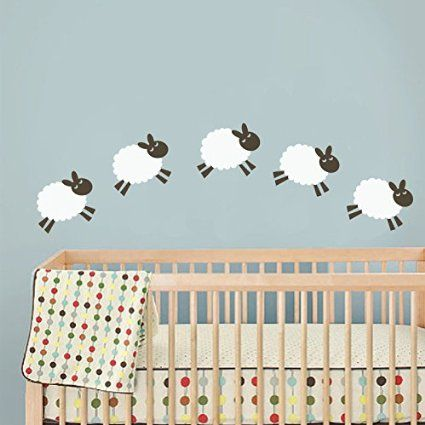 Nusery Counting Sheep Wall Decal Vinyl Art Sticker Kids Room Children A Baby Inspiration Boards In 2018 Pinterest Nursery