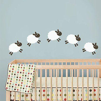 17 meilleures id es propos de stickers muraux de b b - Stickers mouton chambre bebe ...