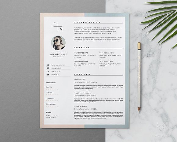 resume template creative resume template cover by thispaperfox - Resume Templates Creative