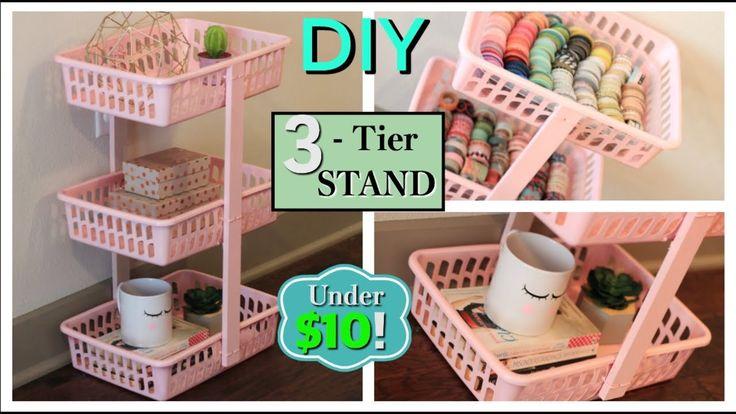 DIY 3-Tier Stand/Organizer (UNDER $10) EASY DOLLAR TREE